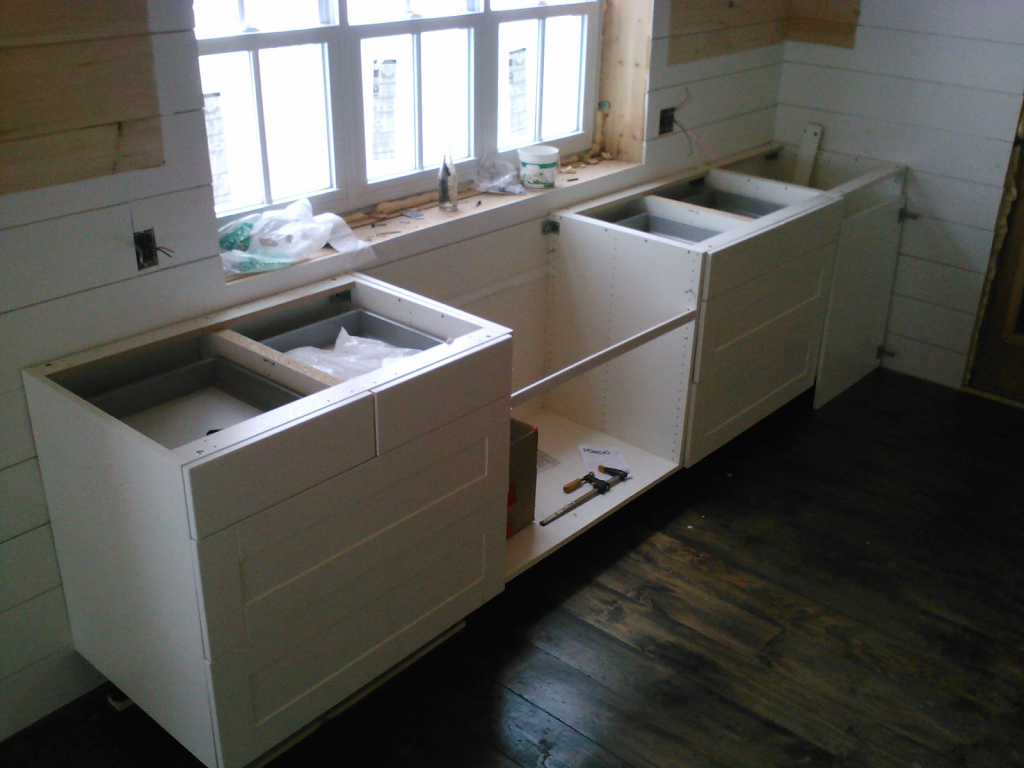 Kitchen window over sink & cabinets